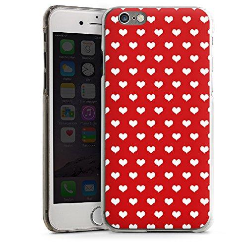 Apple iPhone 5s Housse Étui Protection Coque Petit c½ur Polka c½urs Rouge CasDur transparent