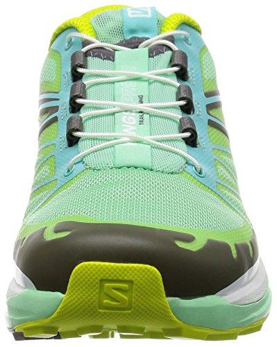 Salomon Wings Pro 2, Chaussures de Running Compétition Femme Multicolore (Lucite Green/Bubble Blue/Gecko Gree)