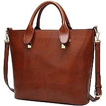 SXELODIE Señor Bolsos para Mujer Hombro Crossbody Messenger Tote Bags, PU Piel Vintage Elegante (