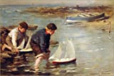 Canvas print 120 x 80 cm: Starting the Race, 1902 by William Marshall Brown / Bridgeman Images - ready-to-hang wall picture, stretched on canvas frame, printed image on pure canvas fabric, canvas p...