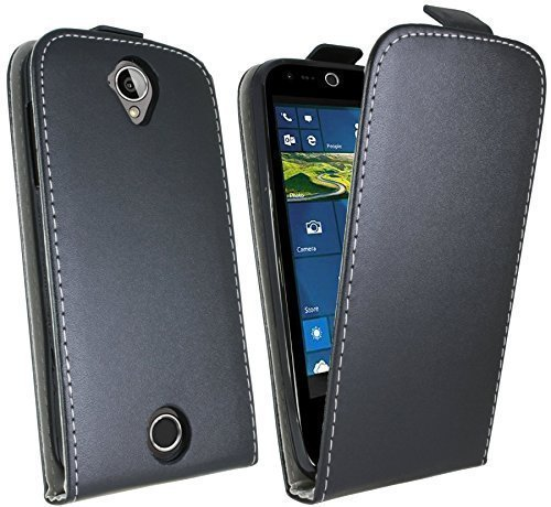 ENERGMiX Klapptasche Schutztasche für Acer Liquid Z330 (Dual SIM) in Schwarz Tasche Hülle