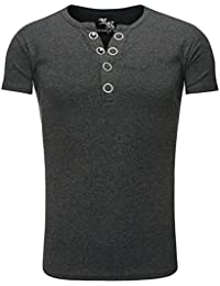 Young and Rich - T shirt homme fashion T shirt 872 gris foncé - Gris