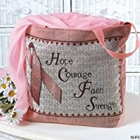 Pink Tote Canvas Tapestry Woman's Purse Bag ~ Breast Cancer Awareness Ribbon by Pink's bags