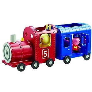 Peppa Pig Locomotora y vagón de Juguete Señora Liebre