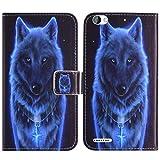 TienJueShi Wolf Fashion Style Book Stand Flip PU Leather
