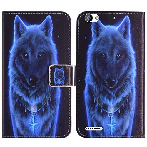 TienJueShi Wolf Flip Book Stand Brieftasche Leder Tasche Schütz Hülle Handy Telefon Case Für Obi Worldphone MV1 5 inch Abdeckung Fall Wallet Cover Etüi