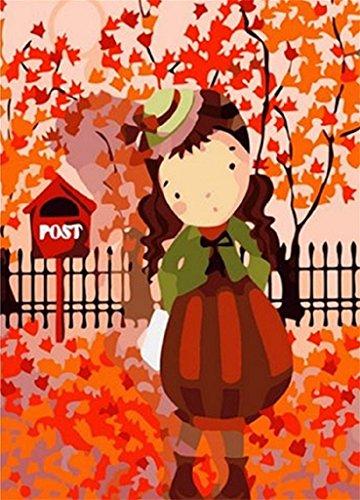 paintingstudio-ragazza-carina-stare-vicino-ad-un-albero-con-foglie-rosse-dautunno-pittura-a-olio-di-
