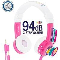 ONANOFF Buddyphones Explore InFlight , Auriculares con cable para niños Rosa y Blanco