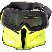 Casco de Moto, con Gafas de Sol Extraíbles Filtro de Boca A Prueba de Viento