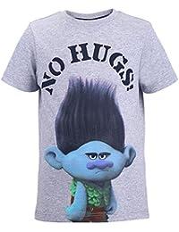 TROLLS Niños Camiseta, T-Shirt, Gris Vigore Claro