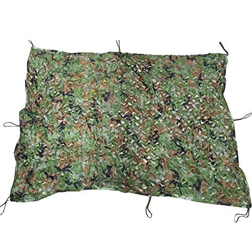 Haiyemao Edelstahlschnalle 1,53 M x 1,99 M Woodland Military Army Jagd Camping Zelt Auto Abdeckung Camouflage Net Netting Rucksack-Schlüsselanhänger für Bergsteiger (Netting Rucksack)