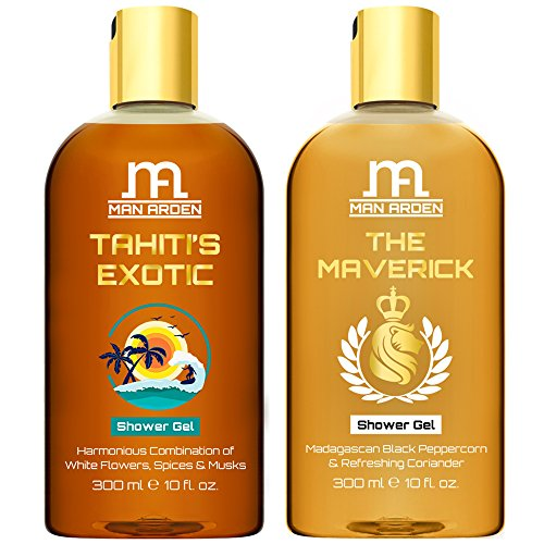 Man Arden Tahiti's Exotic + The Maverick Luxury Shower Gel with Essential Oils - 300 ml