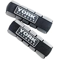 York - Pesi mini da mano, 2 x 0,5 kg, grigio (Metallo)