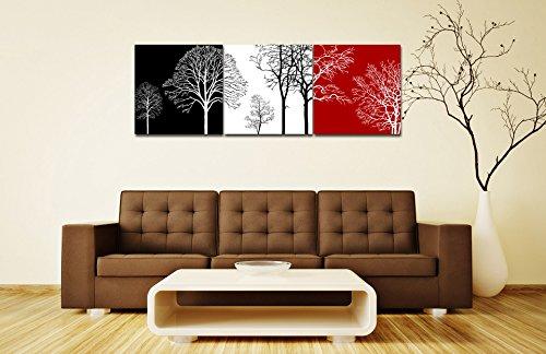 ein Satz von 3 Stück Ölgemälde Druck auf Leinwand-bunte Bäume des Lebens-abstrakte moderne Kunstwerke für Room Decor/Geschenke/Urlaub 40cm*40cm ohne Rahmen (Eigentumswohnung Haus, Baum,)