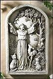 Saint ST Francis Patron of Animals Peace Tree Figur Garten Home Statue