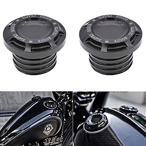 katur schwarz Motorrad CNC Rough Crafts Aluminium Gas Öl Tankdeckel für Harley Sportster XL 12008831996–2014