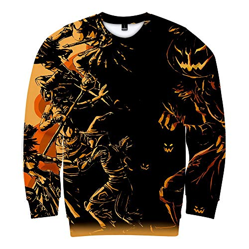 Beonzale Halloween kostüm Frauen-Halloween-Horror-Druck-Partei-Lange Hülsen-Pullover-mit Kapuze Baseballjacke Sweatshirt Pulli Hoodie Kapuze Katzenpulli