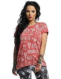 Yakuza Mujeres Ropa Superior/Camiseta Allover Label Boyfriend
