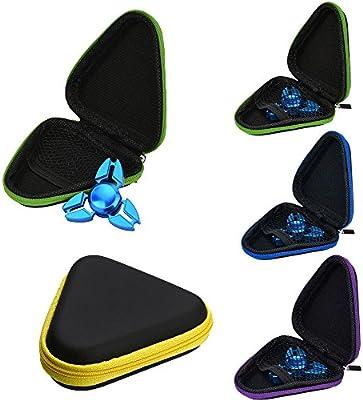 Fidget Spinner Hand - Rcool Caja de caja para Dustproof Spinner mano EDC Fidget Spinner Focus Gyro Toy (9.5 * 9.5 * 3cm, Azul)