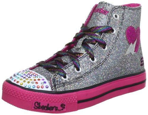 Skechers ShufflesLightening Hearts 10179L, Sneaker bambina Nero (Schwarz (BKHP))