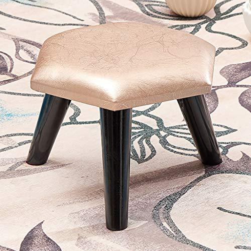Lwsofa stool Niedriger Hocker Holzsessel Fußbank Fußstütze Hocker mit Faux Luxury Öl Wachs (Farbe : A3)