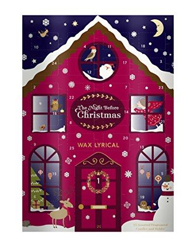 Wax Lyrical THE Night Before Christmas Advent Calendar, Multi-Colour, 32.5 x 23 x 5 cm
