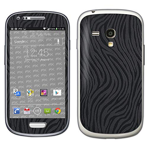 bel mit Samsung Galaxy S3 Mini GT-i8190, Designfolie Sticker (FX-Wave-Black), Fühlbare Wellen-Struktur ()