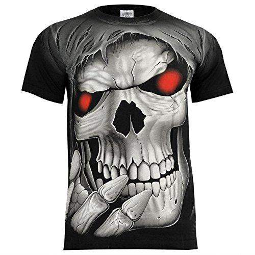 Rock Eagle T-Shirt Rock Chang Heavy Metal Biker Tattoo Rocker Gothic (M, 4005) (Eagle Shirts Für Männer)