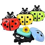 #7: ShopAIS Lady Bug soap dish cartoon dish funky soap dish for kids.Cartoon Lady Bug Plastic Holder Dish Soap Box Case Bathroom Washroom (Color May Vary)