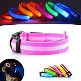 UK Verkäufer. Verbesserte Hund Sichtbarkeit & Sicherheit USB Wiederaufladbares LED Safety Dog Halsband. Ultrahelle LED 's. An Geräte. Hund wird mehr sichtbar & Sicher (KLEINES - S, ROSA)