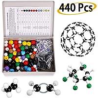 BTSKY 440 piezas molecular modelo Kit – Organic e inorgánica química científica atomía Modelos moleculares Enlaces Kit de enseñanza de química Set de aprendizaje