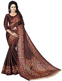 Pranshi Fashion Women's Kalamkari Fashion Printed Art Silk Saree