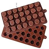 SinCook Stampo in silicone, con 28 cavità, per dolci da forno, gelatine, budini, caramelle