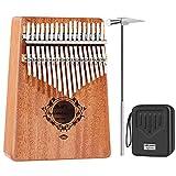 NEUMA 17 Schlüssel Kalimba Daumenklavier Finger Klavier Musikinstrument mit Stimmhammer, Musik Buch für Kinder Geschenk