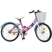 Toimsa Disney Princess Vélo Fille-Soy Luna-6 à 9 Ans, 593, Rose, 20 Pouces