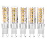 Vlio 5er Pack 7W G9 LED Lampe, Ersatz für 60W Halogen Lampen, Warmweiß, 500LM, 360° Abstrahlwinkel, Nicht Dimmbar, LED Birnen, LED Leuchtmittel, 220-240V AC