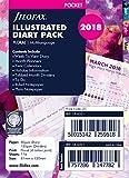 Filofax- Fogli per agenda ad anelli formato A5, anno 2018, illustrati con motivi floreali