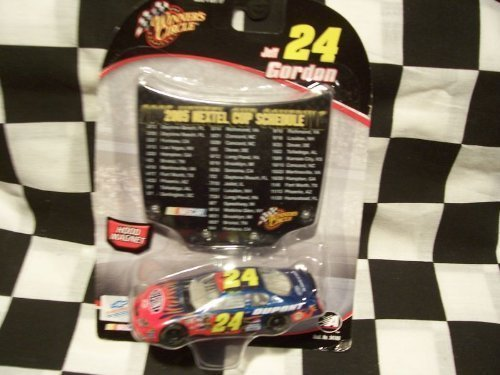 2005-jeff-gordon-24-dupont-1-64-scale-diecast-with-bonus-2005-nextel-cup-schedule-magnet-hood-by-win
