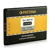 PATONA Batterie BST-41 pour Sony Ericsson Xperia X1 X2 X10 Xperia PLAY (R800i) Aspen (M1i)