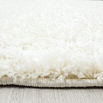 Small - Extra Large Size Thick Modern Plain Non Shed Soft Shaggy Rug Rec & Round - cheap UK light store.
