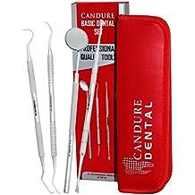 4 Pezzi dentistica Set - tartaro Calcolo Plaque rimozione di Dente Raschietto - specchio dentale Scaler Set