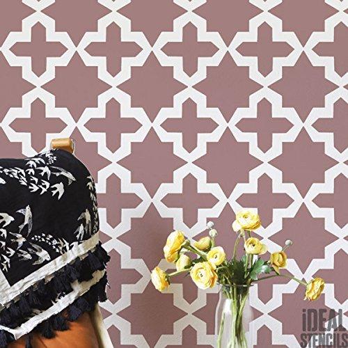 Ideal Stencils Marokkanische Sterne/Kreuze Muster Schablone Heim Wand Dekor Kunst & Basteln Schablone Farbe Wände Stoffe & Möbel 190 Mylar wiederverwendbar