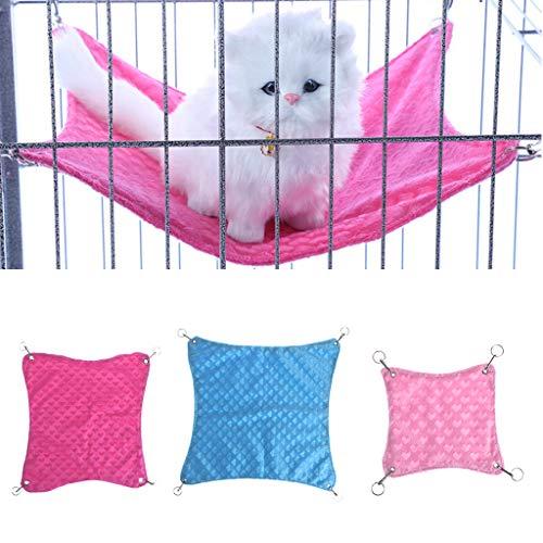 Biniwa Hängematte für Kleine Haustiere, für Kleine Tiere, Ratten, Kaninchen, Hamster, Katzen, Käfig, Hängematten, Zubehör (zufällige Farbauswahl)