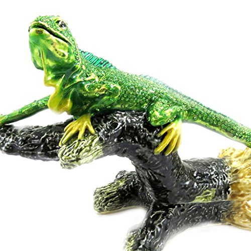 Les Trésors De Lily [L6471] - Schmuckschatulle 'Iguane' grün.