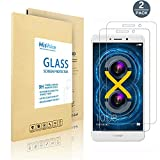 Huawei Honor 6X Screen Protector, MisVoice [Tempered Glass] Screen Film [Scratch Resist] [Bubble Free Install] [2.5D Curved Edge] [HD Clear], Anti-fingerprint for Honor 6X Pack of 2