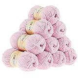 maDDma ® Alize-Softy Strickgarn 10 x 50g, Kuschelwolle, Babywolle, Farbe wählbar, Farbe:rosa