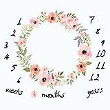 Monatliche Baby Milestone Decke Foto Requisiten Shoots Hintergrund, Wiederverwendbar Infant Baby Einschlagdecke für die Fotografie