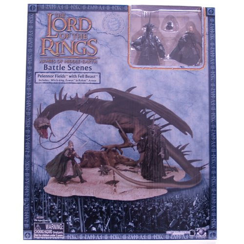Herr der Ringe / Lord Of The Rings - Battle Scenes/Spieset - PELENNOR FIELDS WITH FELL BEAST + WITCH-KING + EOWYN in Rohan Armor - Armies Of Middle-Earth - Play (Herr Der Ringe Witch King)