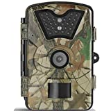 Dalkeyie Trail Camera with Infrared Night Vision 12MP 1080P HD Wildlife Hunting Camera 42Pcs IR LEDs Waterproof Surveillance Camera 120� Wide Angle Version up to 20M/65ft