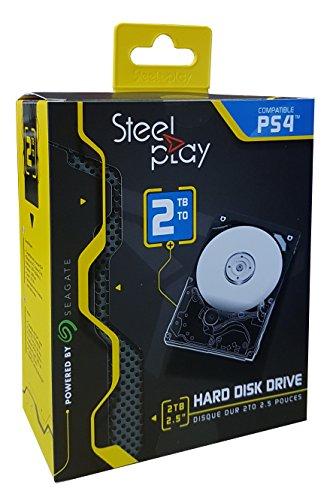 Steelplay Disque Dur Externe 2 To + Kit de Montage pour PS4